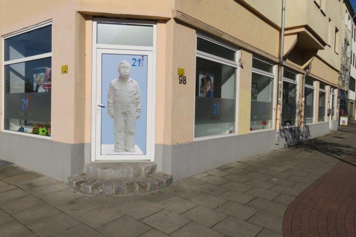 Geschäftsstelle des Vereins 21 Hoch 3 e.V. in der Admiralstraße